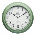 KitchenCraft Living Nostalgia Wall Clock, English Sage Green 25cm
