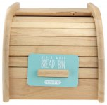 Apollo Housewares Rubberwood Mini Bread Bin 18cm x 27cm x 20cm