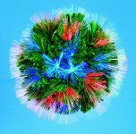 Premier Decorations Battery Operated Hanging Ball 20cm - Multicoloured
