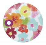 KitchenCraft Round Toughened Glass Worktop Protector Bright Floral