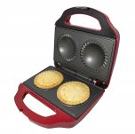 Gourmet Gadgetry Retro Diner Double Pie Maker Metallic Red