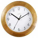 Acctim Epsilon Wall Clock Wood 23cm