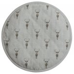 Sophie Allport Circular Hob Cover - Highland Stag