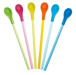 KitchenCraft Colourful Spoon Straws Set of 6
