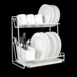 Delfinware 2 Tier Plate Rack White