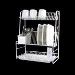 Delfinware 3 Tier Plate Rack White