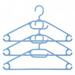 Russel Turnable Hook Plastic Hangers in Blue (Set of 3)
