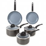 Tower 5 Piece Ceramic Coated Saucepan Set