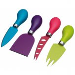 Colourworks Brights 4 Piece Cheese Server Set