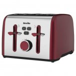Breville Colour Notes 4 Slice Toaster Red