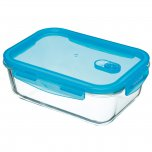 KitchenCraft Pure Seal Rectangular Glass Food Storage Container - 1.8 Litre