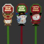 Snowtime Battery Operated Wooden Santa Stop Sign 91cm