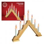 The Christmas Workshop Wooden Flickering Candle Bridge 43 x 40 x 5cm