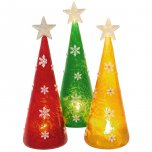 Shudehill Giftware Frosted LED Tree Large - Assorted