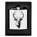 Shudehill Giftware Stag Hip Flask 6oz