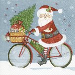 Paper + Design 33cm Napkins (Pack of 20) - Santa On A Bike