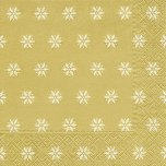 Paper + Design 33cm Napkins (Pack of 20) - Snowflakes Gold