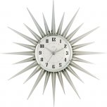Acctim Stella Silver Wall Clock