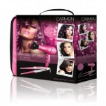 Carmen Ladies Hair Care Gift Pack in Carry Case - Pink