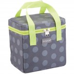 KitchenCraft Lunch Grey Spotty 5 Litre Cool Bag with Lime Handles