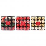 Festive Wonderland Luxury Baubles (Set of 16) - Assorted Classic Christmas