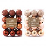 Festive Wonderland Baubles 3cm (Pack of 24) - Assorted Luxury Metallics