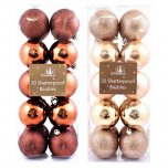 Festive Wonderland Shatterproof Baubles 6cm (Pack of 20) - Assorted Luxury Metallics