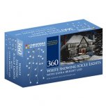 The Christmas Workshop Snowing Icicle Lights 360 LED - White