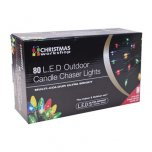 The Christmas Workshop Outdoor Candle Chaser Lights 80 LED - Multicoloured