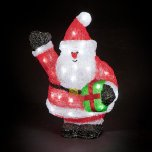 SnowTime Acrylic Character 38cm - Santa with Parcel