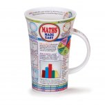 Dunoon Glencoe Shape Fine Bone China Mug - Maths Made Easy