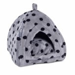 Petface Grey/Black Spot Igloo