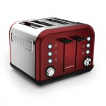 Morphy Richards Accents 4 Slice Toaster Red