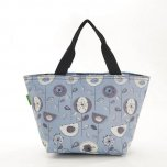 Eco Chic Grey 1950's Flower Cool Bag