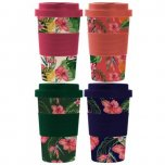 Lesser and Pavey Eco Bamboo Travel Mug 350ml - Tropical Designs