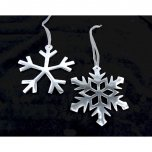Ascalon Hanging Snowflakes 15cm Silver - Assorted