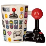 Puckator Game Over Joystick Shaped Handle Mug with Pixel Decal