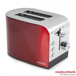 Morphy Richards Accents 2 Slice Toaster Red