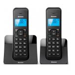 Binatone Cordless Phone Twin Black