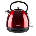 Tower Red Stainless Steel Traditional Kettle