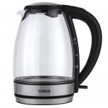 Tower Colour Changing Glass Jug Kettle