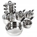 Tower 8 Piece Pan Set Stainless Steel