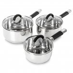 Tower 3 Piece Pan Set Stainless Steel