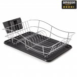 Tower Dish Rack with Black Tray