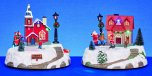 Premier Decorations LED Village Scene with Rotating Characters