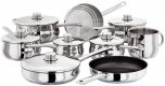 Stellar 1000 9 Piece Saucepan & Steamer Set
