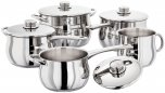 Stellar 1000 5 Piece Deep Saucepan & Stockpot Set