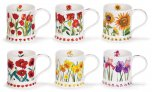 Dunoon Iona Shape Fine Bone China Mug - Garden Flowers
