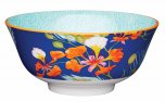 KitchenCraft Blossom and Peacock Feather Print Ceramic Bowl
