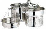 KitchenCraft World of Flavours Stainless Steel 20cm Pasta Pot (4 litre)